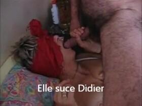 Videos de la sextape de Sameva, Elle suce Didier